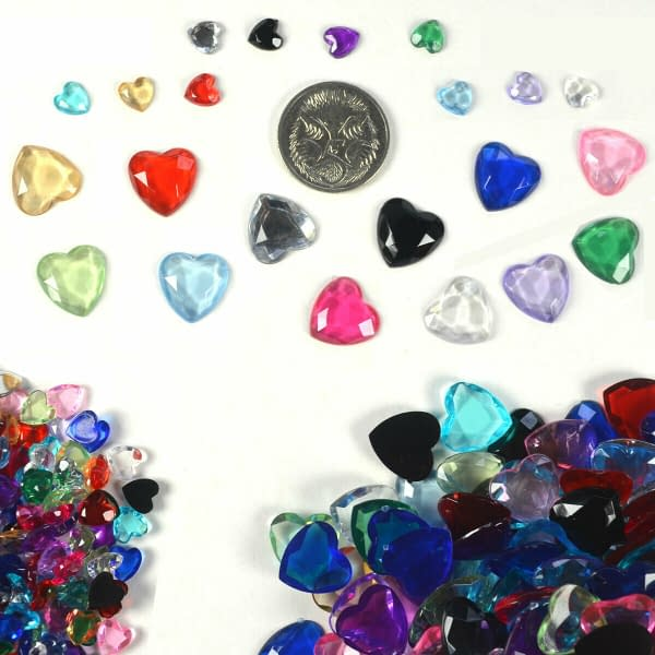Heart Shape Crystal Diamond Confetti Table Scatters Home Wedding Party Craft 402396411667 3