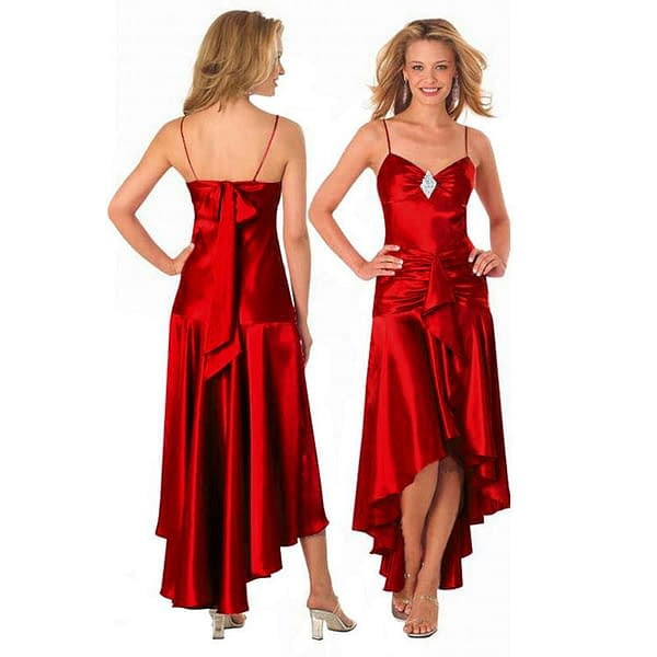 Gorgeous Diamond Embellished Formal Cocktail Party Prom Dress Scarlet 171374229563