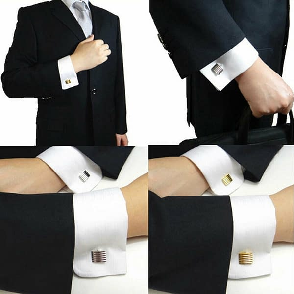 Mens Silver Black Carved Shirt Cufflinks Stainless Fashion Novelty Gift Wedding 174412057106 2
