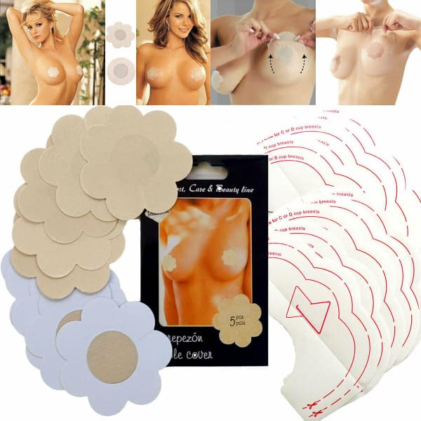 Instant Breast Lift with Satin Nipple Covers
