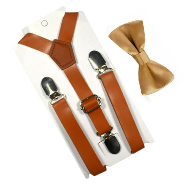 Variation of Children Kids Baby Faux Leather Suspenders Bows Boys Girls Braces Party Wedding 193260212804 e43a