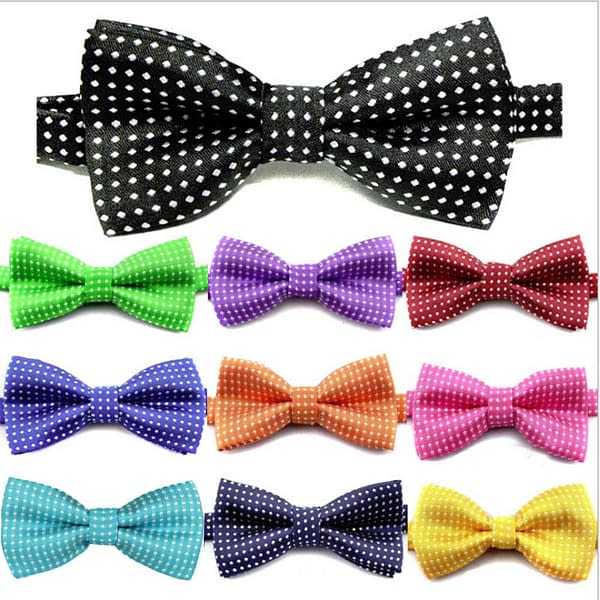 Classic Polka Dot Children Bow Ties for Party School Wedding