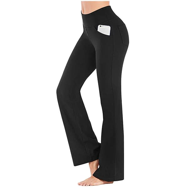 Variation of Women High Waist Casual Gym Yoga Long Pants Sports Wide Loose Bootleg Trousers 194147425440 f126