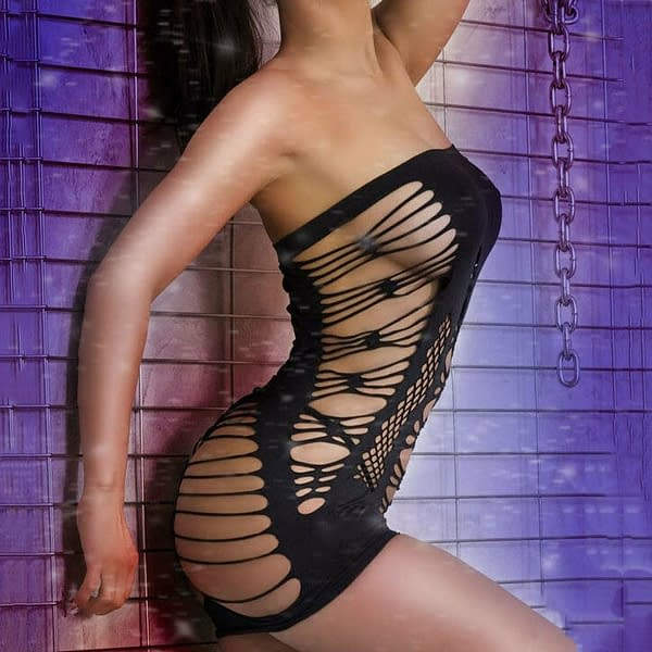 Private Time Sexy Strapless Chemise Dress Lingerie 1305 Size S M 191302067012 3