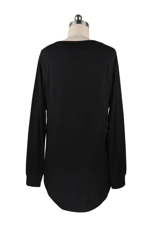 CWomen Pullover Round Neck Long Sleeve Casual Loose Blouse Tee T shirt Tunic Top 402575942142 10