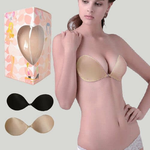 Push Up Self Adhesive Strapless Backless Cotton Silicone Stick On Nu Bra A B C D 170901292276