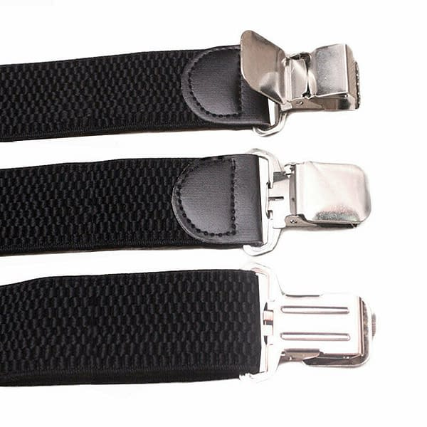 Mens 40mm Wide High Elastic Suspenders Leather Braces Trousers Solid Color Strip 174411773454 2