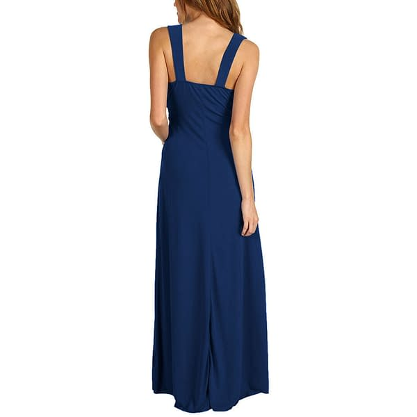 Chic Sleeveless Long Jersey Maxi Cocktail Party Evening Dress Purple 400736447919 4
