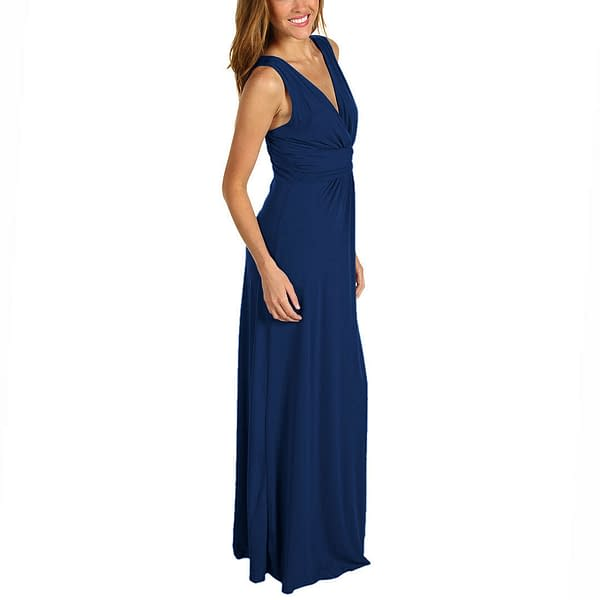 Chic Sleeveless Long Jersey Maxi Cocktail Party Evening Dress Purple 400736447919 3
