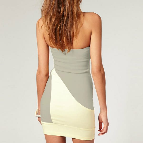 Fitted Strapless Bodycon Cocktail Party Clubwear Mini Dress co9660 Grey 171465244659 2