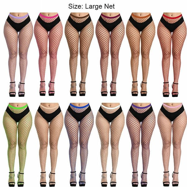 Sexy Fishnet Pantyhose Tights Womens Net Stockings Waist High Neon Lingerie 174404189455 4