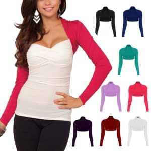 Women's Fitted Cropped Long Sleeve Top Arm Cover
