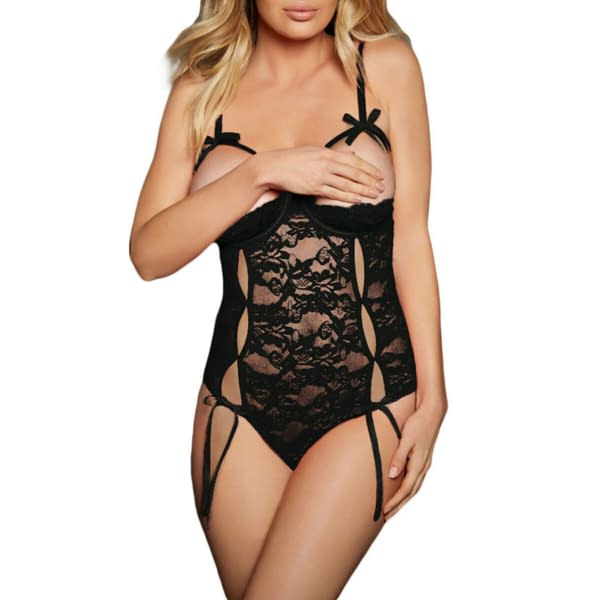 Variation of Sexy Underwire Open Cup Lace Teddy Babydoll Lingerie 2014 Size S M L 191997464012 8436