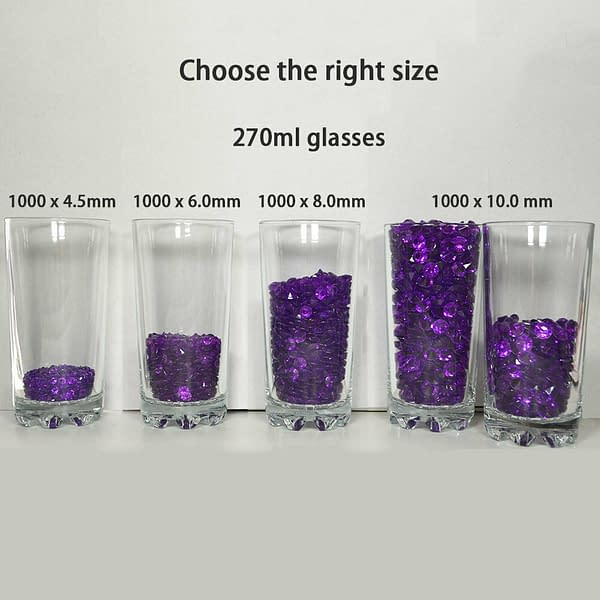 1000x 6mm Acrylic Crystal Diamond Confetti Table Scatters Clear Vase Fillers 191219527245 4