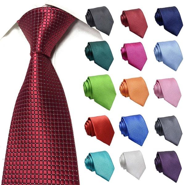 Men's Plaid Jacquard Glitter Ties For Wedding Party