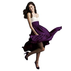 Sweetheart Two Tone Mid-calf Cocktail Dress Plum