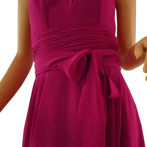 Halterneck Knee A line Cocktail Party Bridesmaid Evening Dress co0933 Chocolate 172527661657 4