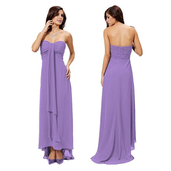 Glamorous Sweetheart Beaded Strapless Formal Gown Evening Dress Deep Lilac 171375431684