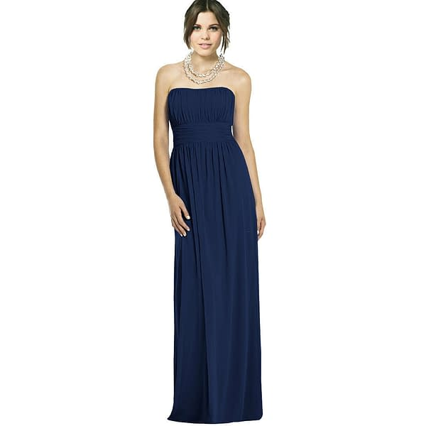 Strapless Chiffon Formal Cocktail Evening Ball Gown Bridesmaid Dress Yacht Blue 171375490136