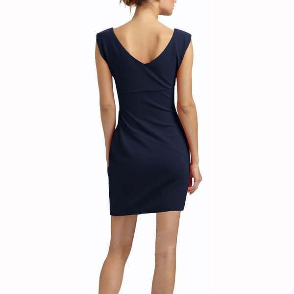 Sleeveless Boatneck Fine Jersey Sheath Day Party Cocktail Dresses Blue 191322543762 2