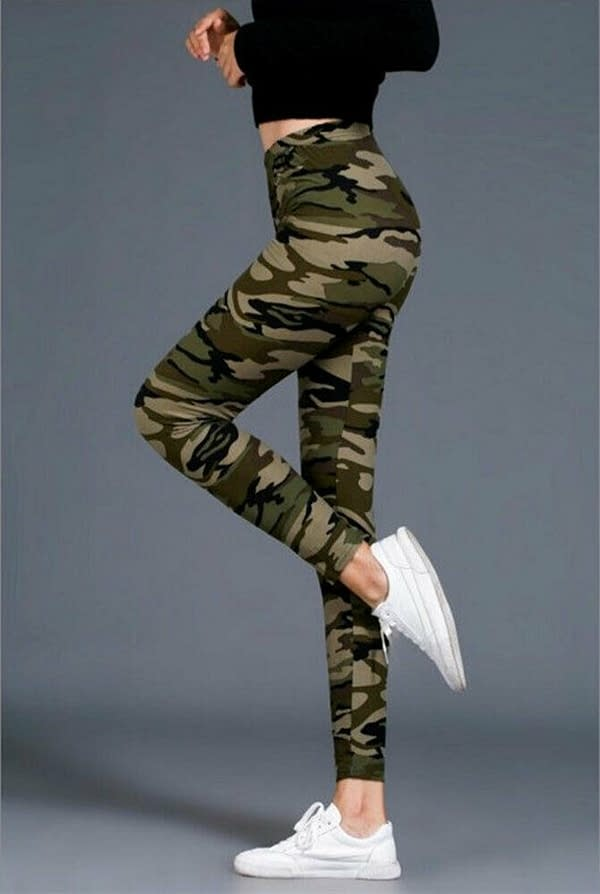Variation of Women Camo Prints Leggings Army type Stretch Soft Yoga Gym Fitness Casual Pants 174528707823 196a