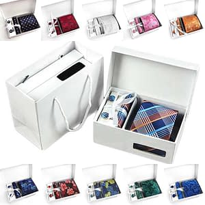 Top Quality Paisley Floral Pattern Tie Gift Box Set