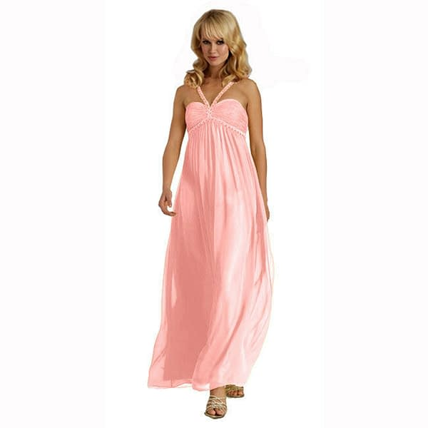 Sweetheart Long Flowing Maxi Formal Evening Party Gown Bridesmaid Dress Pink 172546846716