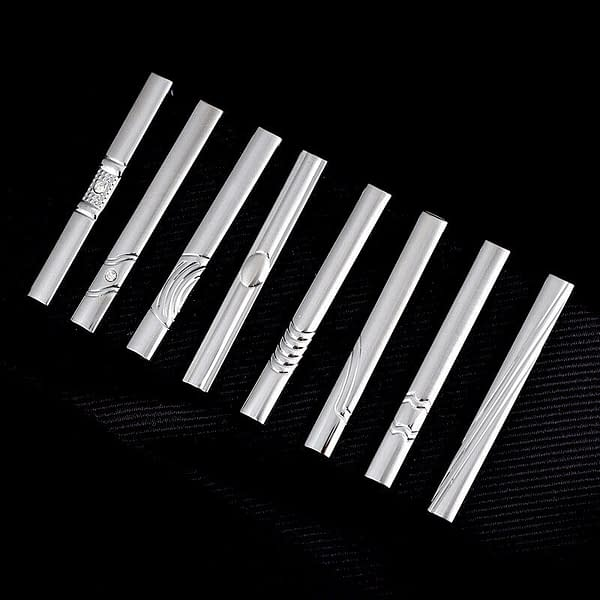 Mens 55cm Silver Tie Pin Clip Bar Stainless Steel Shirt Clasp Jewelry Wedding 194144560748
