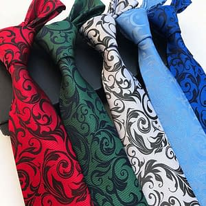New Floral Paisley Ties Jacquard Woven Silk Necktie