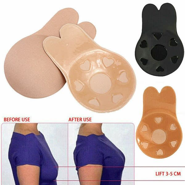 Silicone Breast Boob Lift Pads Push Up Strapless Invisible Bra Nipple Cover AU 174136294947 4