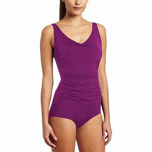 Side Shirred Contour Orchid Swimsuit