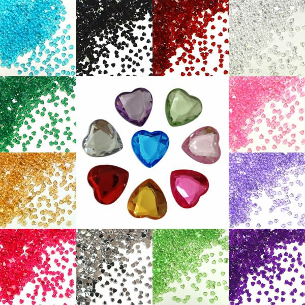 Heart Shape Crystal Diamond Confetti Table Scatters Home Wedding Party Craft 402396411667