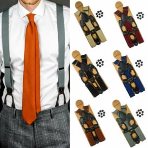 35mm Suspenders with 6 Button Braces