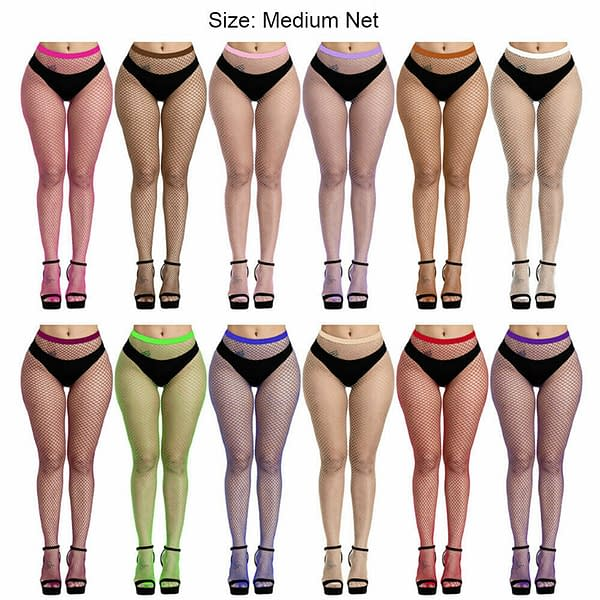 Sexy Fishnet Pantyhose Tights Womens Net Stockings Waist High Neon Lingerie 174404189455 3