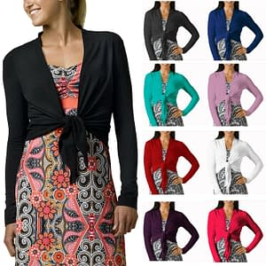 Stylish Cover Up Wrap Tops Long Cardigan