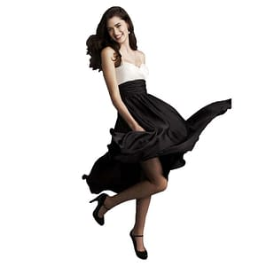 Sweetheart Two Tone Mid-calf Cocktail Dress Black