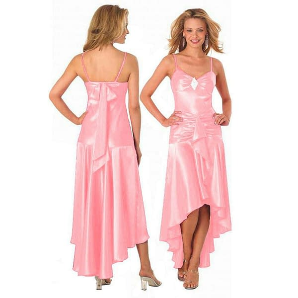 Gorgeous Diamond Embellished Formal Cocktail Party Prom Dress Baby Pink 192109215915