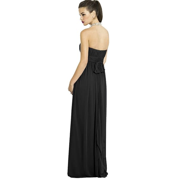 Strapless Chiffon Formal Cocktail Evening Ball Gown Bridesmaid Dress Yacht Blue 171375490136 2
