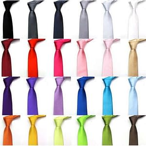 Men's Formal Casual Solid Colour Ties Fashion Width