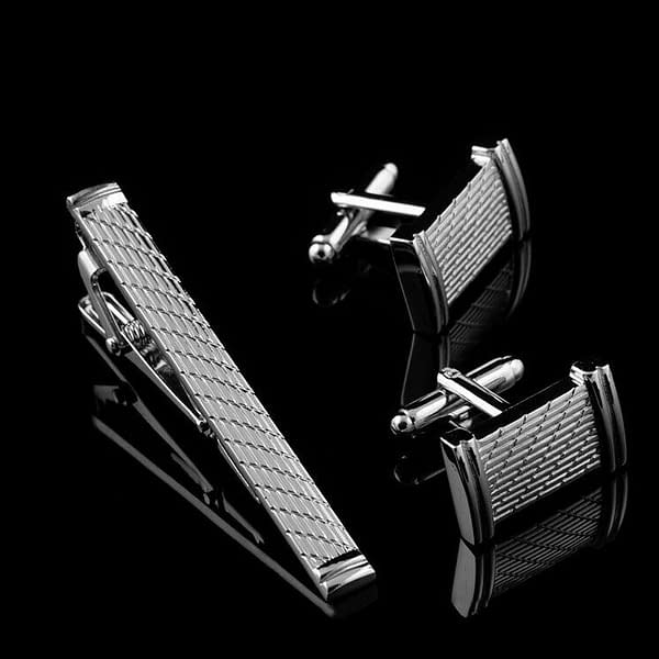 Variation of Men039s Stainless Steel Silver Shirt Cufflinks Neck Tie Pin Clip Bar Clasp Wedding 174135245863 a2f1