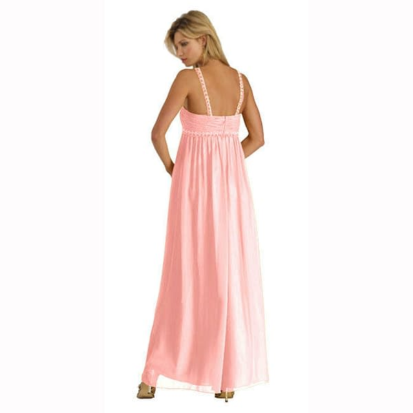 Sweetheart Long Flowing Maxi Formal Evening Party Gown Bridesmaid Dress Pink 172546846716 2