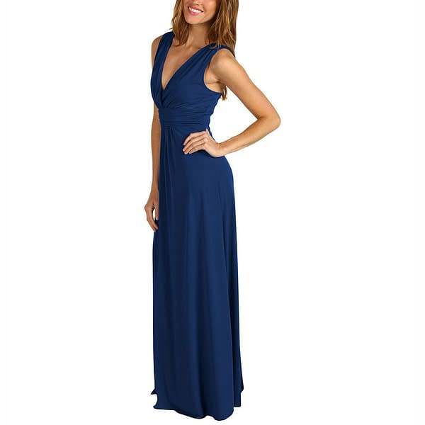 Chic Sleeveless Long Jersey Maxi Cocktail Party Evening Dress Purple 400736447919 2