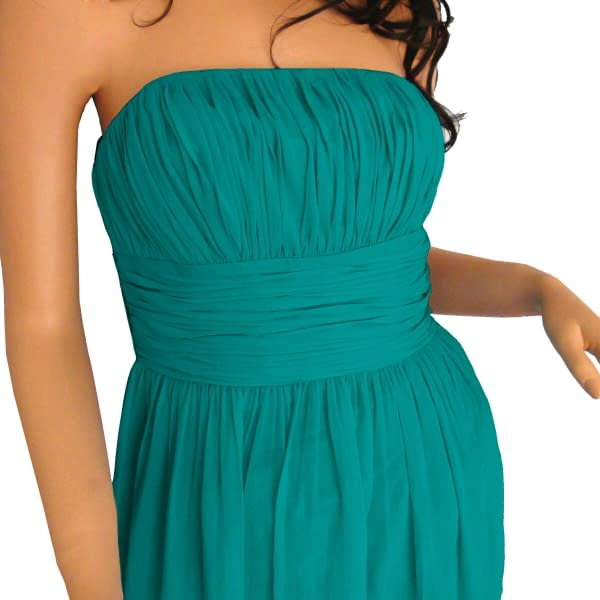 Strapless Chiffon Formal Cocktail Evening Ball Gown Bridesmaid Dress Yacht Blue 171375490136 4