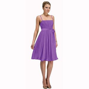 Sexy Knee Length Cocktail Party Dress Chiffon Lavender