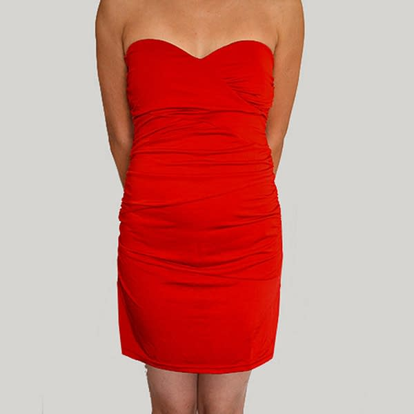Ruched Strapless Evening Party Night Club Dress co9687 Red 400775120427 2