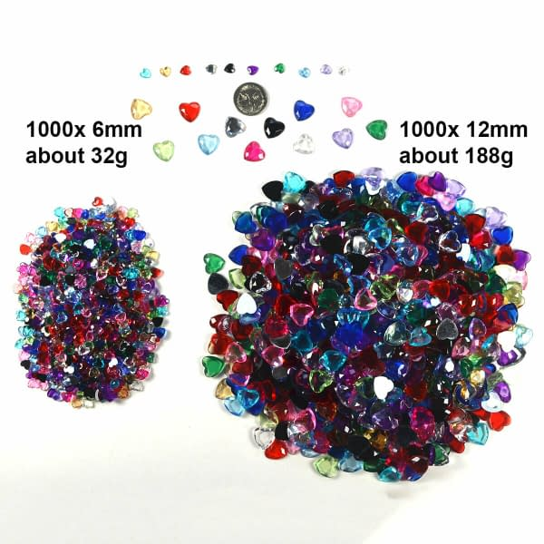 Heart Shape Crystal Diamond Confetti Table Scatters Home Wedding Party Craft 402396411667 2