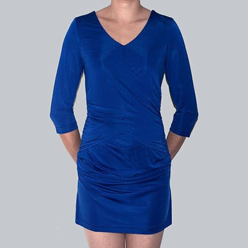 Fitted Badycon with Scooped neckline Mini Party Day Dress co9723 Royal Blue 191335494834 2