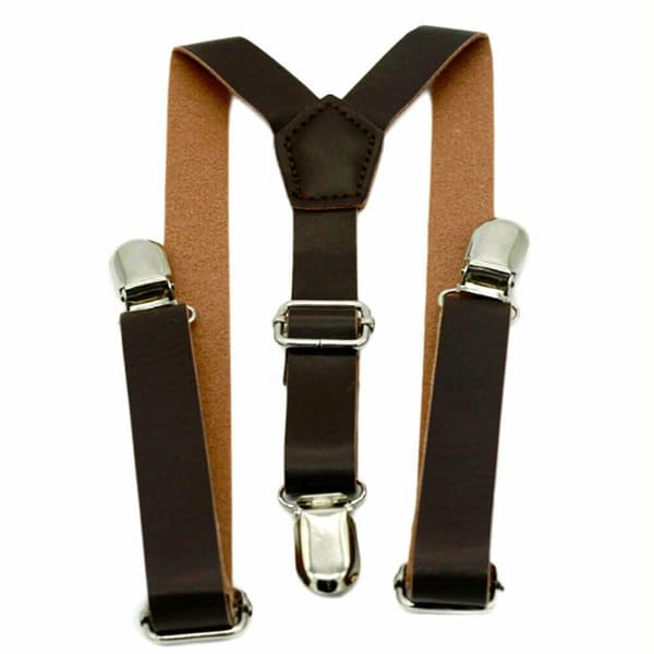 Children Kids Baby Faux Leather Suspenders Bows Boys Girls Braces Party Wedding 193260212804 2