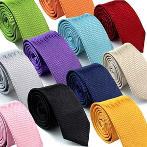 Men's Plaid Casual Party Skinny Glitter Ties