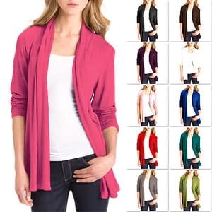 Long Sleeve Cardigan Tops with Pockets